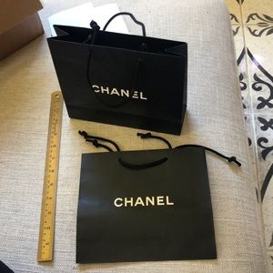 Two Authentic CHANEL Empty Shopping Bags